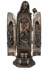 Triptych Madonna Table Altar Foldable Holy Maria Christmas Crib