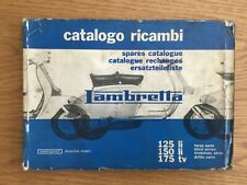 Lambretta series 3 original spares catalogue....catalogo ricambi....rare