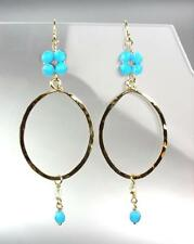 Blue Tourmaline Crystals Earrings Unique Artisanal Urban Anthropologie Gold