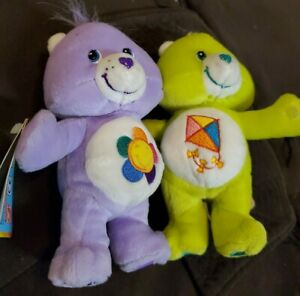 Care Bears Do-Your-Best And Harmony Cuddle Hug Pair Hugging Plush 2003