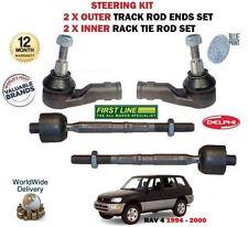 FOR TOYOTA RAV 4 2.0 1994->2X OUTER + 2X INNER STEERING TRACK RACK TIE ROD END