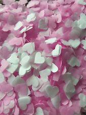 1300 confettis coeur blanc et rose Mariage Baby-shower Anniversaire Décoration