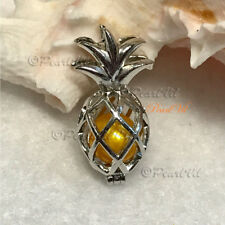 Hawaiian Pineapple Pearl Cage Pendant - Located USA