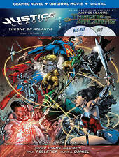 Justice League: Throne of Atlantis Graphic Novel (Blu-ray/Dvd 2-Disc Set) New