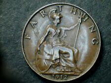 George V 1912 Bronze Farthing, grade fine.