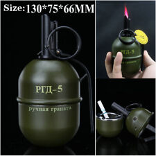 Military butane Gas Lighter metal Windproof strong fire With ashtray Cigarette