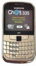 Samsung Ch@t GT-S3350 GOLD UNLOCKED QUADBAND FULL KEYBOARD,WIFI,TEXTING PHONE