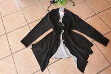 MAGNA Zipfel Jacke Kunstlederoptik 52 54 NEU Raff-Falten schwarz LAGENLOOK EDEL!