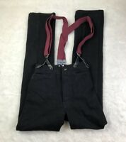 Wah Maker Frontier Western Cowboy Rodeo Pants Men Size 26 Made In USA Suspenders