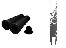 Team Dogz Scooter Handlebar Grips Black + Black & White Grip Tape Combo