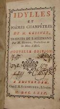 GESSNER M. - IDYLLES ET POEMES CHAMPETRES - LE PREMIER MARIN - 1764