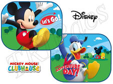 New 2PC Disney Mickey Mouse Car Window Sun Shade Set Sun Visor Protective Screen