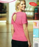 Damen Fitness Shirt T-Shirt Pink Sport atmungsaktiv und feuchtigkeitsregulierend