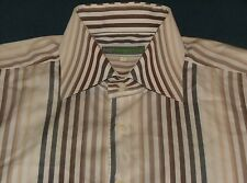 Men's Bogosse White Stripe Long Sleeve Shirt Size 5 XLarge 100% Cotton