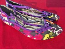 SALE @ POETIC LICENCE Pansy Flower Anthropologie Ballet Flats Shoes Women Sz 7.5