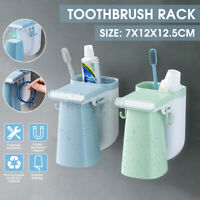 Magnetic Toothbrush Holder Wall Mount Hanging Toothpaste Storage Rack Shelf S