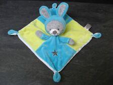 doudou lapin gris bleu vert étoile si mignon simba toys