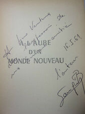 SUCCESSION LINO VENTURA /A L'AUBE D'UN MONDE NOUVEAU Charles Bourgeon Envoi