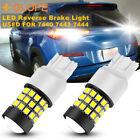 7443 LED Strobe Flash Back Up Reverse Light Brake Bulb Lamp White 6K 2835 39SMD