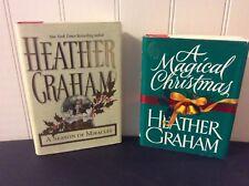 Heather Graham (Pozzessere) 2 HCDJ Christmas Books~1st Prints Vintage
