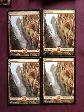 4X TEXTLESS FULL ART  - Mountain  245   MTG Magic   (see scan)