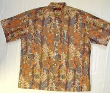 Mens Tori Richard Shirt Size XXL 2XL Tropical Camp Button Front Cotton F57