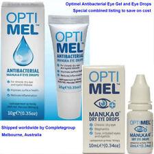 2X or 4X Optimel Manuka Honey Antibacterial Eye Gel or Manuka Dry Eye Drops USA