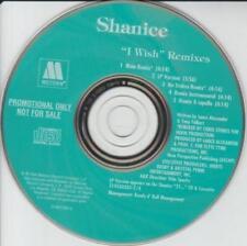 Shanice: I Wish Remixes PROMO MUSIC AUDIO CD No Stokes Main Acappella LP 5 track