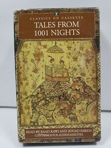1995 Audio Cassette Book TALES FROM 1001 NIGHTS Abridged, 4 Cassettes Used