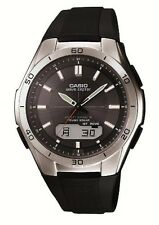 CASIO WAVE CEPTOR WVA-M640-1AJF Solar Multiband 6 Black Men's Watch from Japan