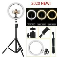 "10"" LED Ring Light Dimmable Lighting Kit Phone Selfie Tripod Stand Youtube Live"