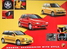 Fiat Cinquecento 500 Punto Bravo Abarth  Poster Manifesto 59cm x 42cm