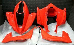 Kawasaki KFX450R PLASTICS FENDERS RED 08-14 FENDER SKIRTS  STOCK OEM