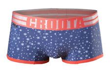 "CROOTA Mens Underwear Boxer Briefs, Low-Rise Square Cut, Blue, M (Waist 29-31"")"