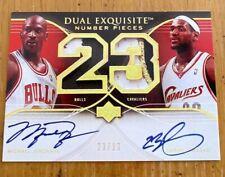 2007 Upper Deck NBA Art Print Rare Michael Jordan & Lebron James RP #Autograph!!