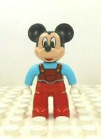 Lego Duplo Figure Mickey Mouse w/ red overalls