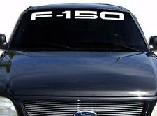 "FORD F-150 Windshield Window Vinyl Decal Sticker Custom Vehicle Logo WHITE 40"""