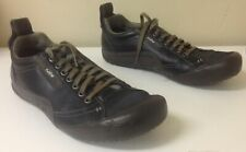 CUSHE Dark Brown Leather Round Toe Low Top Lace UpCasual Sneaker Sz 10 B4976