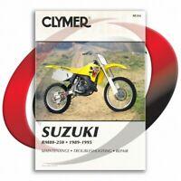 1989-1995 Suzuki RM250 Repair Manual Clymer M386 Service Shop Garage
