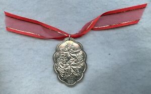 1980 TOWLE STERLING SILVER CHRISTMAS TREE MEDALLION ORNAMENT