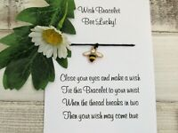 Bee Lucky Wish Bracelet Friends Gift Enamel Heart Charm Anklet Friendship String
