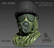 LIVE RESIN,1/35, LRE35268,  M17 US Protective Mask with hood and M1 helmet