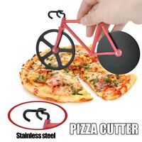 Bike Pizza Cutter Chopper Slicer Kitchen Food Tools Stainless Steel Bicycle DIY