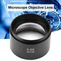 "WD165 0.5X Auxiliary Lens Barlow Objective Lens f Stereo Microscope 1-7/8"" 48mm"