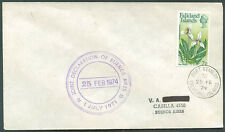 FALKLAND ISLANDS TO ARGENTINA Cover 1974 VF