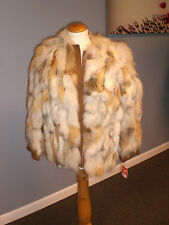 Red Fox Section and Leather Fur Jacket. Brand New!!! Ironed/Glazed!!! A Steal!