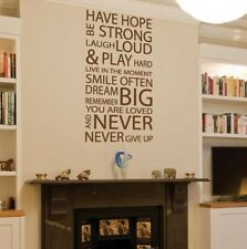 Removable House Rules Never Give Up Vinyl Wall Paper Decal Art Sticker Q928