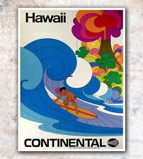 "Vintage Travel Poster Art Hawaii Print 8x10"" A468"