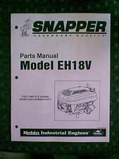 SNAPPER ROBIN INDUSTRIAL ENGINE MODEL EH18V PARTS MANUAL