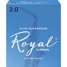 Rico Royal Alto Saxophone Reeds Strength 2, Box of 10